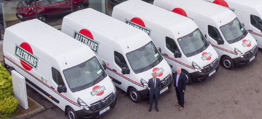 Alltrans collect their new Opel Fleet of Vans